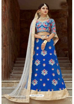 Blue Heavy Art Silk Designer Lehenga Choli