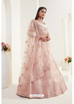 Peach Designer Bridal Wedding Wear Lehenga Choli