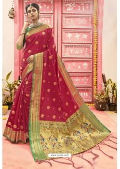 Red Designer Classic Wear Art Silk Saree