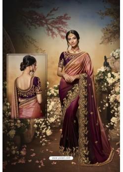 Purple Latest Designer Party Wear Saree