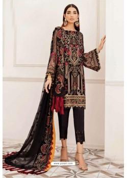 Black Designer Pakistani Style Suit