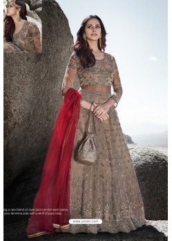 Light Brown Heavy Designer Party Wear Anarkali Suit