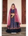 Navy Blue Designer Wedding Wear Lehenga Choli
