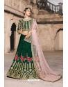 Dark Green Designer Wedding Wear Lehenga Choli