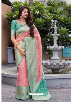 Pink Banarasi Art Silk Traditional Wear Designer Saree