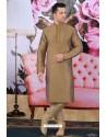 Brown Art Banarasi Silk Embroidered Kurta Pajama