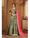 Mehendi Latest Heavy Embroidered Designer Wedding Anarkali Suit