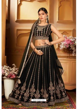 Dark Green Heavy Embroidered Designer Party Wear Lehenga