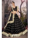 Black Stylish Designer Party Wear Lehenga