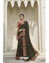 Mehendi Heavy Embroidered Designer Wear Wedding Silk Sari