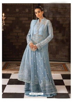 Blue Latest Heavy Designer Pakistani Style Salwar Suit