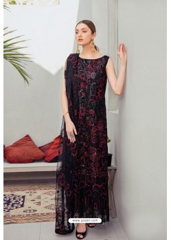 Black Latest Heavy Designer Pakistani Style Salwar Suit