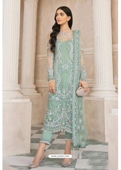 Sea Green Latest Heavy Designer Pakistani Style Salwar Suit