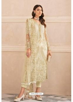 Light Yellow Latest Heavy Designer Pakistani Style Salwar Suit