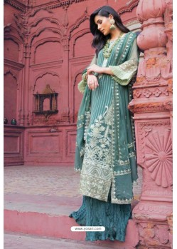 Teal Latest Heavy Designer Pakistani Style Salwar Suit