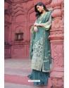 Teal Latest Heavy Designer Pakistani Style Salwar Suit