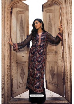 Navy Blue Latest Heavy Designer Pakistani Style Salwar Suit