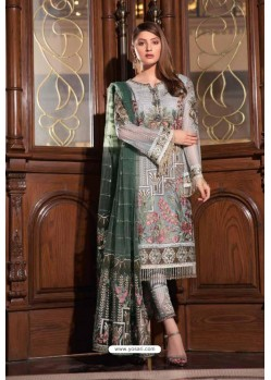 Light Grey Latest Heavy Designer Pakistani Style Salwar Suit