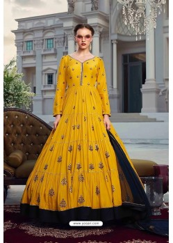 Yellow Latest Designer Wedding Gown Style Anarkali Suit