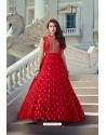 Red Latest Designer Wedding Gown Style Anarkali Suit