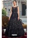 Navy Blue Latest Designer Wedding Gown Style Anarkali Suit