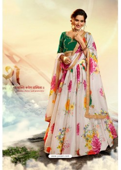 Off White Stylish Designer Party Wear Lehenga