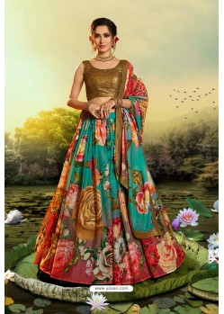 Multi Colour Stylish Designer Party Wear Lehenga