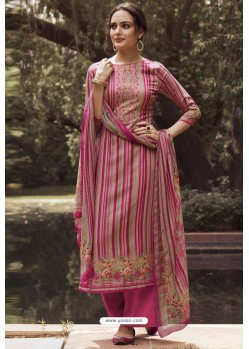 Rani Designer Casual Wear Pure Cotton Jam Sartin Palazzo Salwar Suit