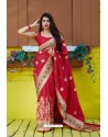 Red Designer Soft Silk Classic Wear Soft Silk Sari