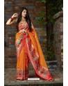 Yellow Designer Soft Silk Classic Wear Soft Silk Sari