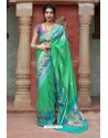 Jade Green Designer Soft Silk Classic Wear Soft Silk Sari