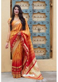 Mustard Designer Soft Silk Classic Wear Soft Silk Sari