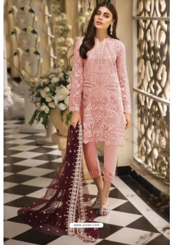 Peach Latest Heavy Designer Pakistani Style Salwar Suit