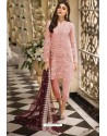 Peach Latest Heavy Designer Pakistani Style Salwar Suit