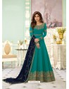 Teal Latest Designer Wedding Gown Style Anarkali Suit