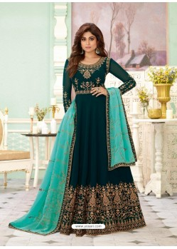 Teal Green Latest Designer Wedding Gown Style Anarkali Suit