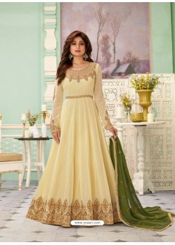 Lemon Latest Designer Wedding Gown Style Anarkali Suit