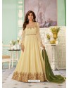 Lemon Latest Designer Wedding Gown Style Anarkali Suit