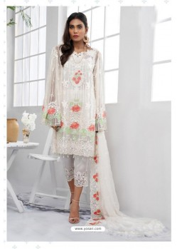 White Latest Heavy Designer Party Wear Pakistani Style Salwar Suit