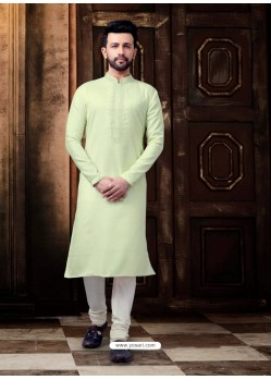 Green Readymade Designer Kurta Pajama For Men