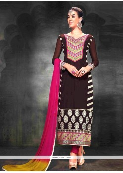 Black Georgette Churidar Salwar Kameez