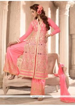 Beauteous Resham Work Designer Palazzo Salwar Suit