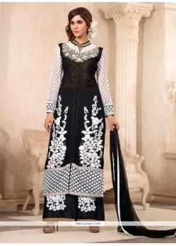 Thrilling Resham Work Net Designer Palazzo Salwar Suit