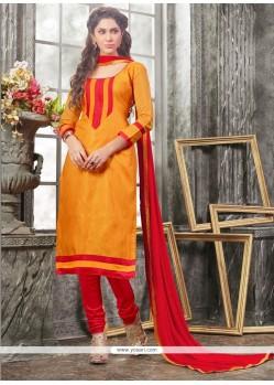 Blissful Lace Work Yellow Churidar Designer Suit