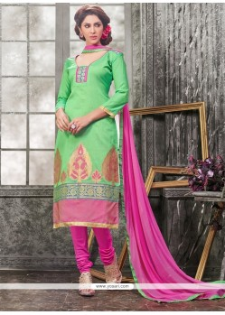 Appealing Lace Work Churidar Designer Suit