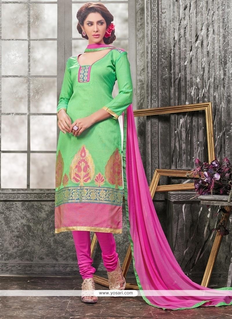 Appealing Lace Work Churidar Designer Suit