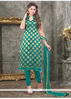 Trendy Chanderi Churidar Designer Suit