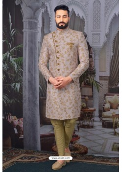 Dusty Pink Readymade Designer Indowestern Sherwani For Men