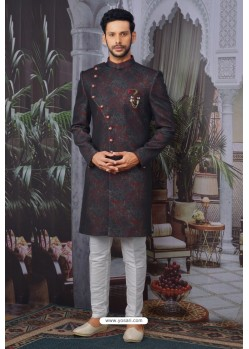 Maroon Readymade Designer Indowestern Sherwani For Men