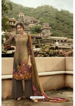 Marigold Designer Casual Wear Sorar Crepe Palazzo Salwar Suit